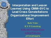 Using cmmi svc to lead cross conste...