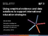 Using empirical evidence and data s...
