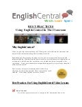 Using EnglishCentral in the classroom - Best Practices