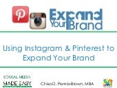 Using Instagram and Pinterest to Expand Your Brand