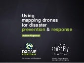 Using mapping drones for disaster prevention & response
