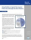 Using Mobility to Expand Planning and Performance Management Best Practices