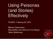 Using Personas and Stories Effectiv...