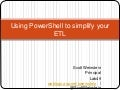 Using PowerShell to Simplify your ETL