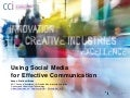 Using Social Media for Effective Communication