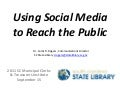 Using social media to reach the public