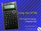 Using the hp35s Calculator