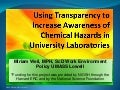 Using transparency to increase awareness of chemical hazards