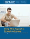 Klariti Guide on Writing White Papers for Strategic Advantage