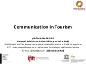 Communication in Tourism