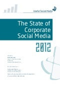 The State of Corporate Social Media 2012