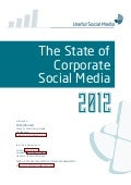 SAMPLE: State of Corporate Social Media 2012