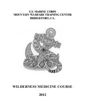 Us Marine Corps Wilderness Medicine...