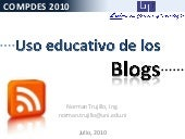 Uso educativo de los blogs COMPDES ...