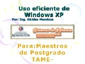 Uso Eficiente De Windows Xp