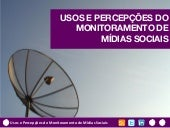 Usos e Percepções do Monitoramento ...