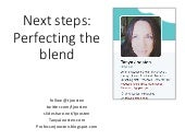 Next steps in blended learning, Presentation at University of Tampa