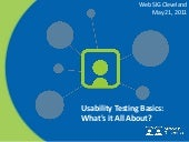 Usability Testing Basics: What's it...