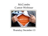 Career Webinar for University of Te...