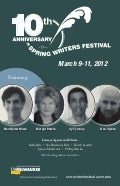 10th Annual Spring Writer's Fest Brochure