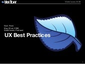 User Experience Best Practices