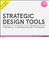 Strategic design tools - patterns, frameworks and principles