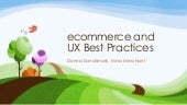 UX best practices for ecommerce websites