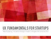 UX Fundamentals for Startups