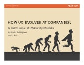 How User Experience Evolves in a Company - a New Look at UX Maturity Models