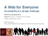 A Web for Everyone: Accessibility as a design challenge