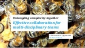 Effective collaboration for multi-­disciplinary teams