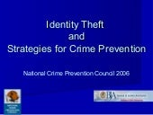 Identity Theft And Strategies For C...