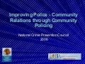 Improving Police/Community Relations