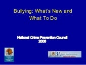 Bullying Whats New And What To Do