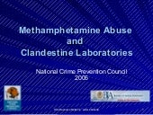 Methamphetamine Abuse And Clandesti...
