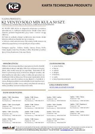 V399 CARO VENTO 50 - odswieżacze samochodowe w kulistym ekspozytorze
