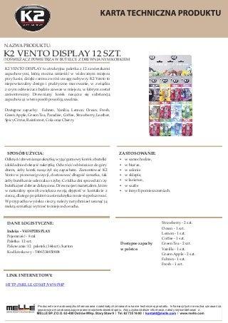 V459PDISPLAY Paletka zapachów Vento