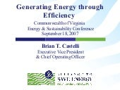 Generating Energy Through Efficiency