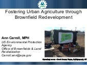 Fostering Urban Agriculture through...