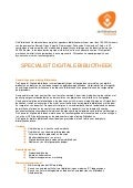 Vacature specialist digitale bibliotheek november 2012