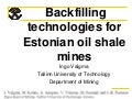 Valgma backfilling technologies for estonian oil shale mines(2)