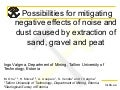 Valgma possibilities for mitigating negative effects of noise and dust caused by extraction of sand, gravel and peat(2)