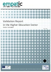 Validation Report - Higher Educatio...