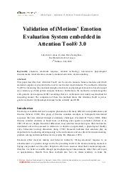 Validation of i_motions¹_emotion_ev...