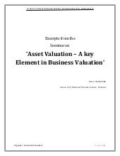 Valuation Seminar Draft Report