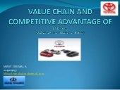 Value chain ​​and competitive advan...