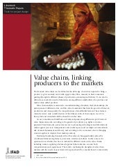 Value Chains, Linking Producers to the Markets