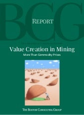 Value creation in mining   more tha...