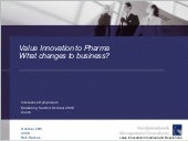 Value Innovation To Pharma - What C...