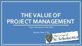 Value of Project Management